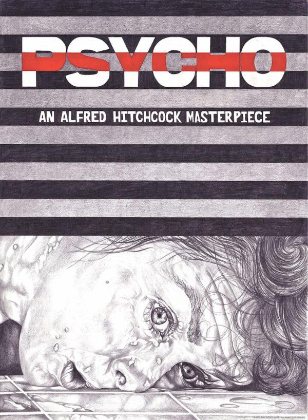 Psycho movie poster design