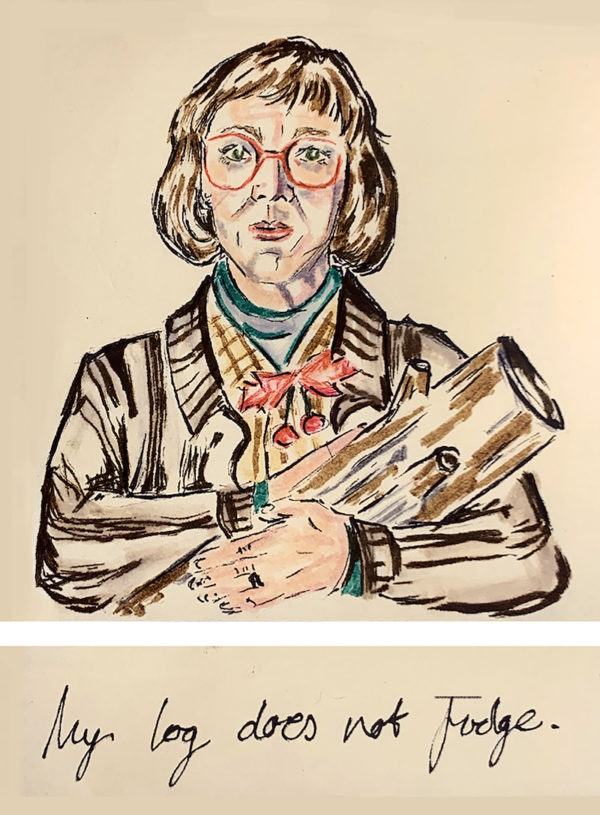 Twin Peaks Log Lady poster